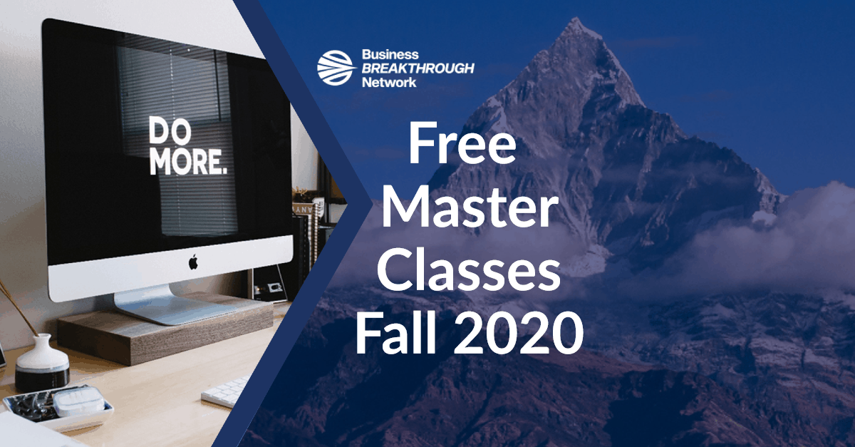 Free Master Classes for Fall 2020